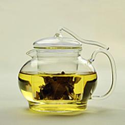 Čajnik 600 ml steklen