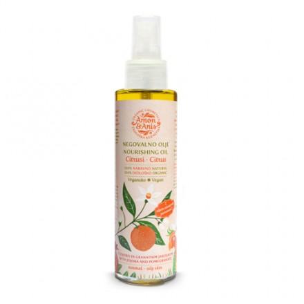 Negovalno olje za telo Citrusi (z jojobo in granatnim jabolkom)